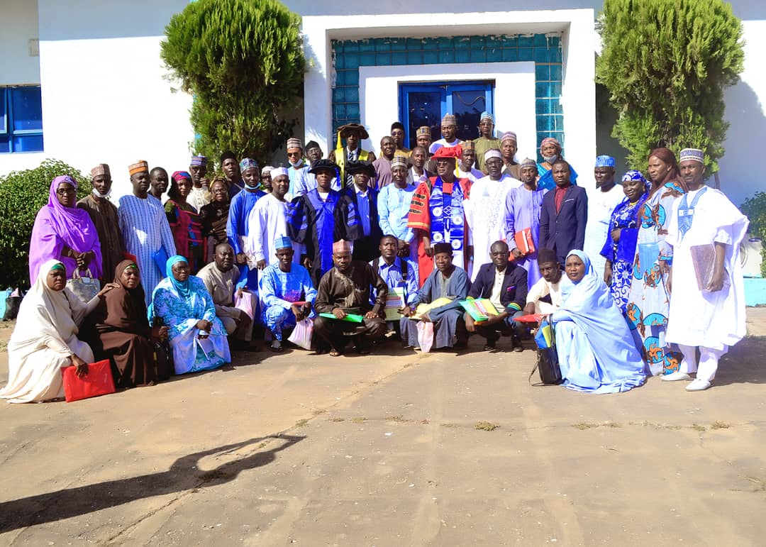 Group photography with the National President/ Chairman of Council Alhaji Aminu Bello Muhammad fcasi and Dan\'yan Makamam Kano